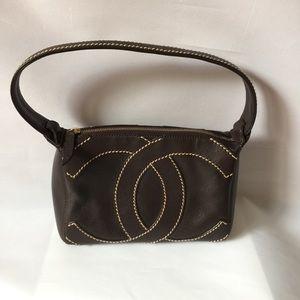 Chanel CC Logo Brown Mini Bag